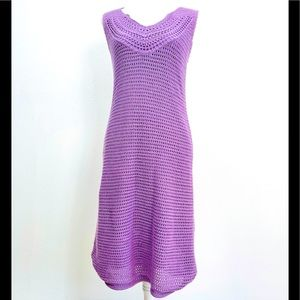 ATHLETA  Crochet 100%cotton MIdi Dress